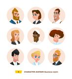 Characters avatars in cartoon flat style Vector Illustration