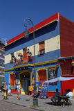 Characters at the balcony in La Boca Stock Image