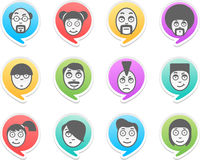 Characters in bubbles Royalty Free Stock Image
