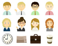 Characters of business person theme vector illustration