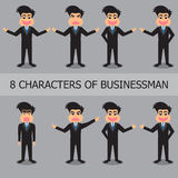 Characters Of Businessman Set. Royalty Free Stock Photo
