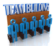 Characters 3d people - Team building Stock Photography