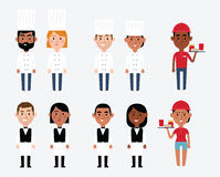 Characters Depicting Catering Occupations. Illustration Of Characters Depicting Catering Occupations vector illustration