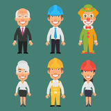 Characters Different Professions Part 11 Stock Photo