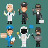 Characters Different Professions Part 8 Stock Photo