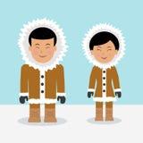 Characters eskimos. Stock Photos
