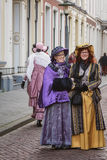 Characters from the famous books of Dickens during the Dickens F royalty free stock photos