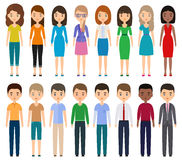 Characters flat people. Vector. Stock Images