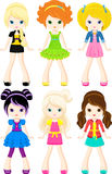 Characters girls Royalty Free Stock Photography