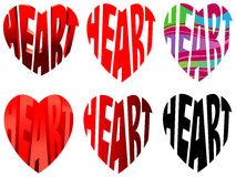 Characters heart Stock Image