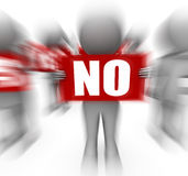 Characters Holding Yes No Signs Displays Advice And Guidance Stock Photos