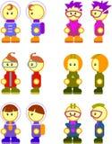 Characters human. Human cartoon characters cute clip art Stock Photo