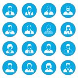 16 characters icon blue. 16 characters simple icon blue isolated vector illustration Stock Illustration