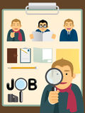 Characters.job search set Royalty Free Stock Photography