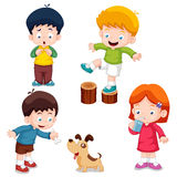 Characters kids cartoon. Illustration of characters kids cartoon.Vector Royalty Free Stock Photography