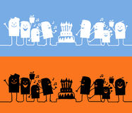Characters on line - birthday Stock Photography