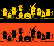 Characters on line - Halloween Royalty Free Stock Photos