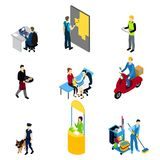 Characters Professions Isometric Set Stock Photography