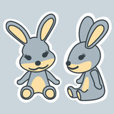 Characters rabbit Royalty Free Stock Photography