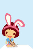 Characters  rabbit girl Royalty Free Stock Photo