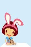 Characters  rabbit girl Royalty Free Stock Photo