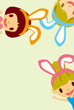 Characters rabbit girl Stock Image