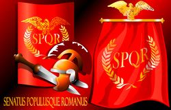 The characters of the Roman Empire. (Vector) royalty free illustration