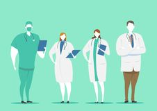 Characters Set of doctors. Medical team concept in vector illustration design. Career vector concept royalty free illustration
