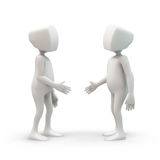Characters shaking hands Royalty Free Stock Image