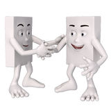 Characters shaking hands Stock Photography