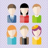 Characters silhouettes people professions Royalty Free Stock Photography