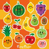 Characters of smiling fruits. royalty free illustration