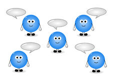 Characters with speech bubbles Royalty Free Stock Photos