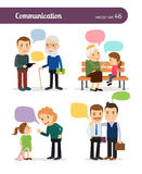 Characters with speech bubbles Royalty Free Stock Photo