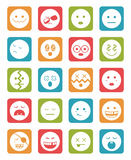 20 characters in square icons set 2. 20 characters in color square icons set 2 Stock Image
