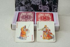 Vintage Chinese Playing Cards Royalty Free Stock Images
