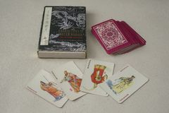 Vintage Chinese Playing Cards Royalty Free Stock Photography