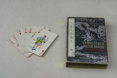 Vintage Chinese Playing Cards Royalty Free Stock Photo