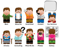 Characters for web sites Stock Images