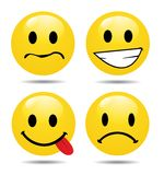 Characters of yellow emoticons Stock Image