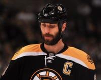 Charagne de Zdeno de défenseur de Boston Bruins Photographie stock libre de droits