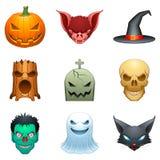 charakterów Halloween wektor Fotografia Royalty Free