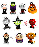 charakterów Halloween wektor Zdjęcie Royalty Free