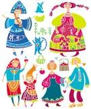 charakterów rosjanina wektor zdjęcia royalty free