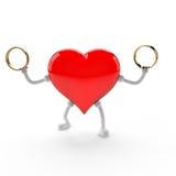 charakter łączy serce rodzinnej miłości dwa Zdjęcia Stock