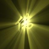 charakter buddhism błyski światła znak Obrazy Stock