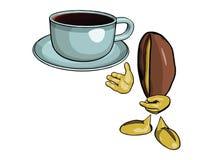 Charakter - die Kaffeebohne 9 stock abbildung