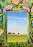 charakter drzwi zdjęcie stock