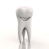Charakter in Form eines lächelnden Zahnes Stockfoto