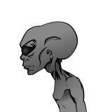 Charakter Grey Alien Lizenzfreies Stockbild